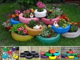 more-craft garden tire planter